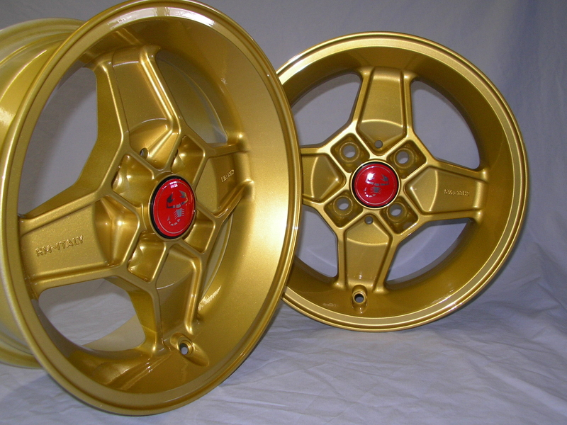 cd 30 alufelgen satz 5 5x13 gold glanz exotic raceparts. Black Bedroom Furniture Sets. Home Design Ideas