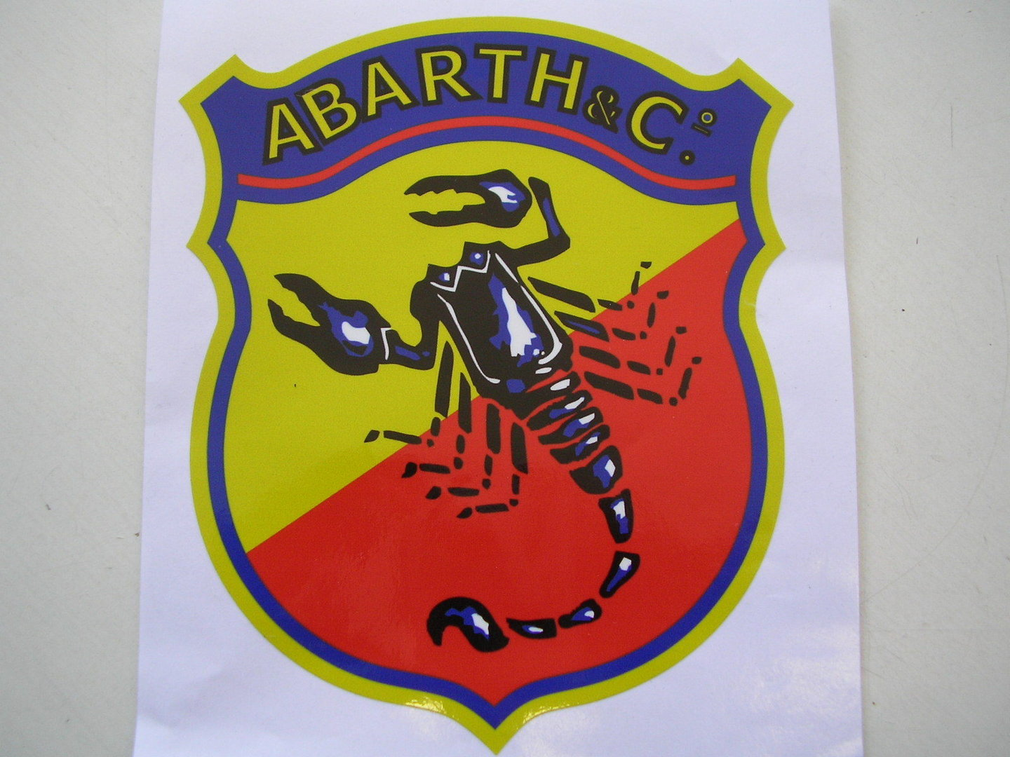 Abarth Sticker 17x20cm
