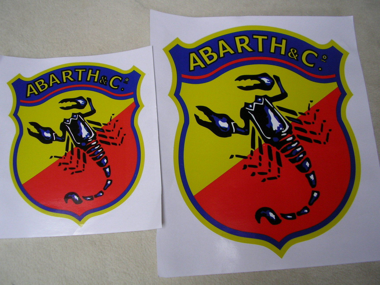Abarth Sticker 30x24cm